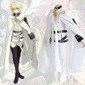 Venta caliente Anime Serafín De Finales de Owari ningún Serafín Mikaela Hyakuya cosplay Vampiro Traje Con Capa + Pelucas Conjunto completo