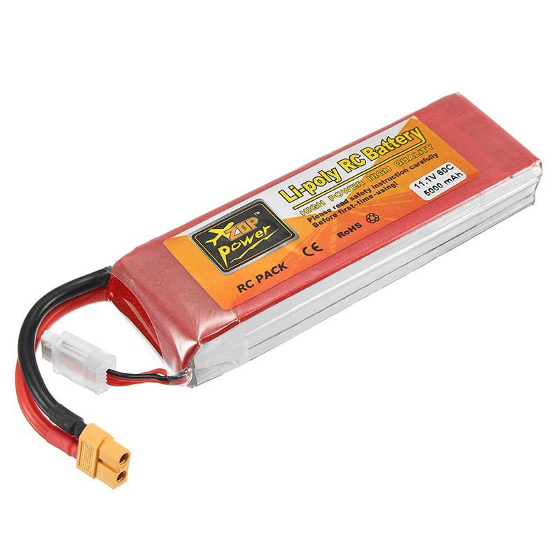 New Hot ZOP Power 11.1V 5000mAh 3S 60C Lipo Battery XT60 Plug For RC Drone FPV Racer Batteries Quadcopter zanussi zop 37902 xk в краснодаре