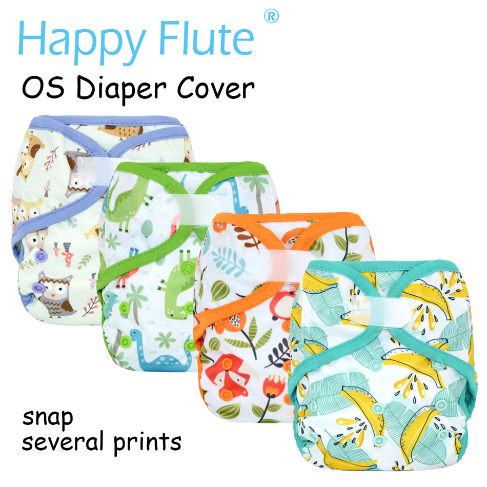 Happy Flute OS baby cloth diaper cover with or without bamboo insert,waterproof breathable S M& L adjustable,fit 5-15kg baby adult baby incontinence diaper nappy pdm01 6 size s m m l l xxl