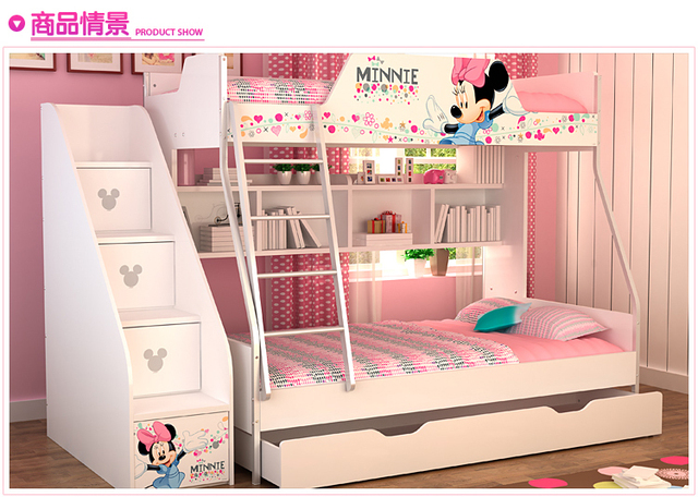 Mdf Panels Kids Bed Bunk Bed Stairs And Underbed Storage