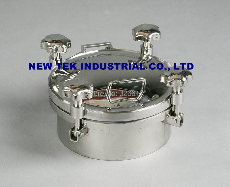 SS304 200mm Heavy Duty Round Manway, 3bar Pressure,100mm High Tank Manhole in Food Grade genuine oem heavy duty pressure sensor for caterpillar cat 366 9312 3669312 40mpa