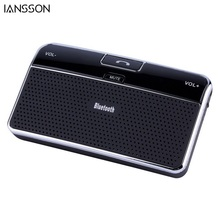 Universal Bluetooth 4.0 EDR In-Car Speakerphone Sun Visor Wireless Handsfree Car Kit Music Receiver + Car Charger Retail Box