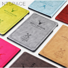 Embossed Deer Flip Cover for Apple iPad mini 1 2 3 7.9 Case Soft TPU Edge Canvas Cloth Cover for iPad mini 4 Protective Case goojodoq for ipad mini 4 case mini 1 2 3 cover kids students baby safe silicone soft protective case for apple ipad mini 4