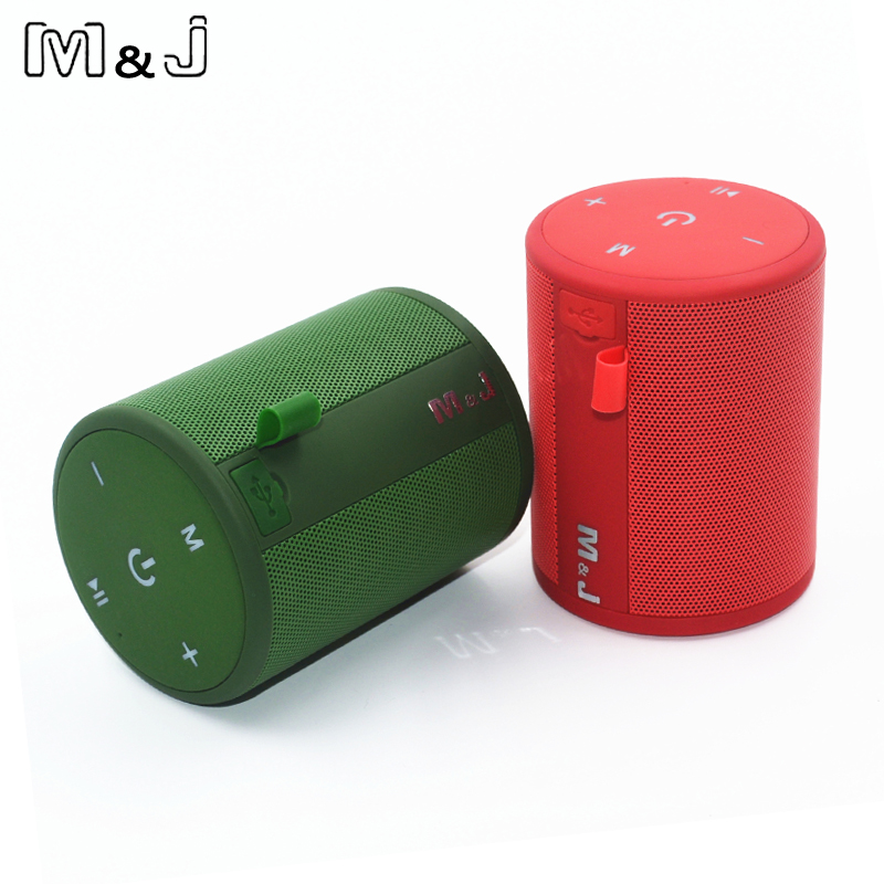 M&J T2 Mini Outdoor Waterproof Wireless Bluetooth Speaker Portable Bass Box Column Series Connection Design for iPhone Samsung wireless bluetooth speaker cute mushroom waterproof sucker mini bluetooth speaker audio outdoor portable bracket for xiaomi ipad