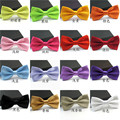 Frete Grátis Moda Bow Tie Para Os Homens Do Noivo Preto Azul Vermelho Roxo Cor Sólida Bowtie Casamento Doces Ajustável Gravata gravata