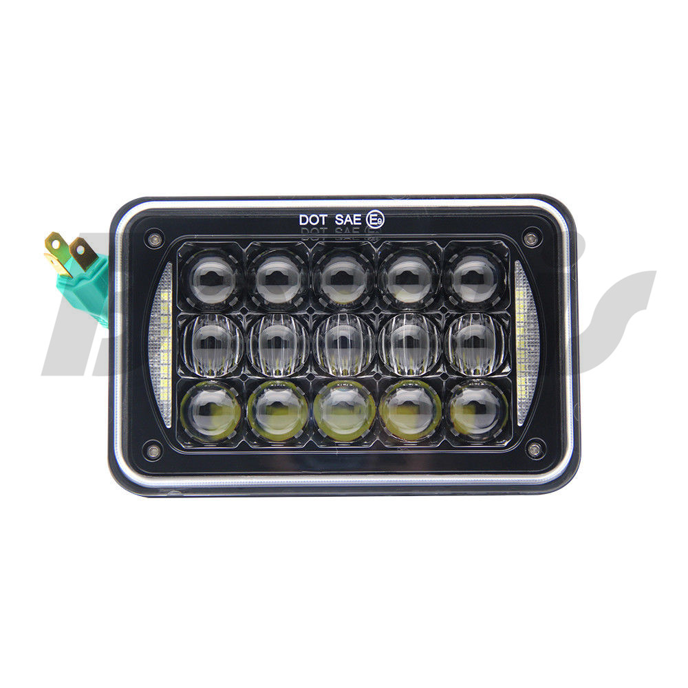 4 x 6 Inch Square Led Headlight Reflector Sealed Beam Replacement With High/Low Beam + DRL For Chevy Trucks 4X4 Offroad