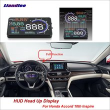 Liandlee Car Head Up Display HUD For Honda Accord 10th Inspire 2017-2018 Dynamic Driving Computer Projector Screen Detector