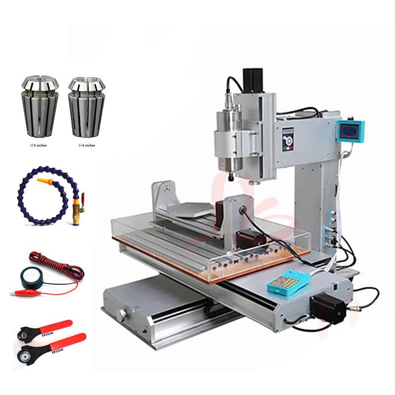 3D Vertical máquina de grabado CNC 3040 2200 W 5 eje metal de fresado área de trabajo 300x400x150mm