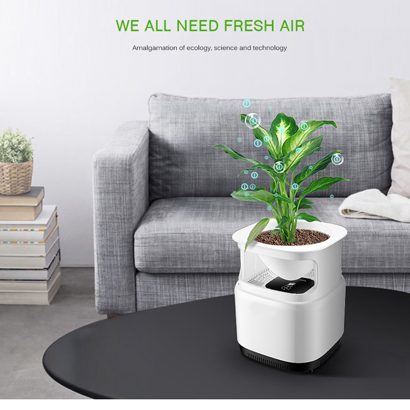 Portable Air Purifier For Home Air Cleaner Sterilizer Flowerpot Anion Ionizer Generator Sterilization Disinfection Clean Room