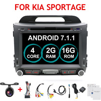 New ! 8 2din android 7.1 Car DVD for KIA sportage 2011 2012 2013 2014 2015 car pc head unit With GPS Navigator Steering Wheel