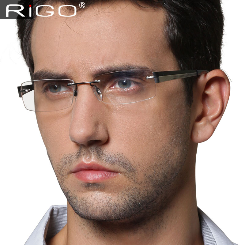 Free Shipping Rimless Eyeglasses Frame Titanium Male Ultra