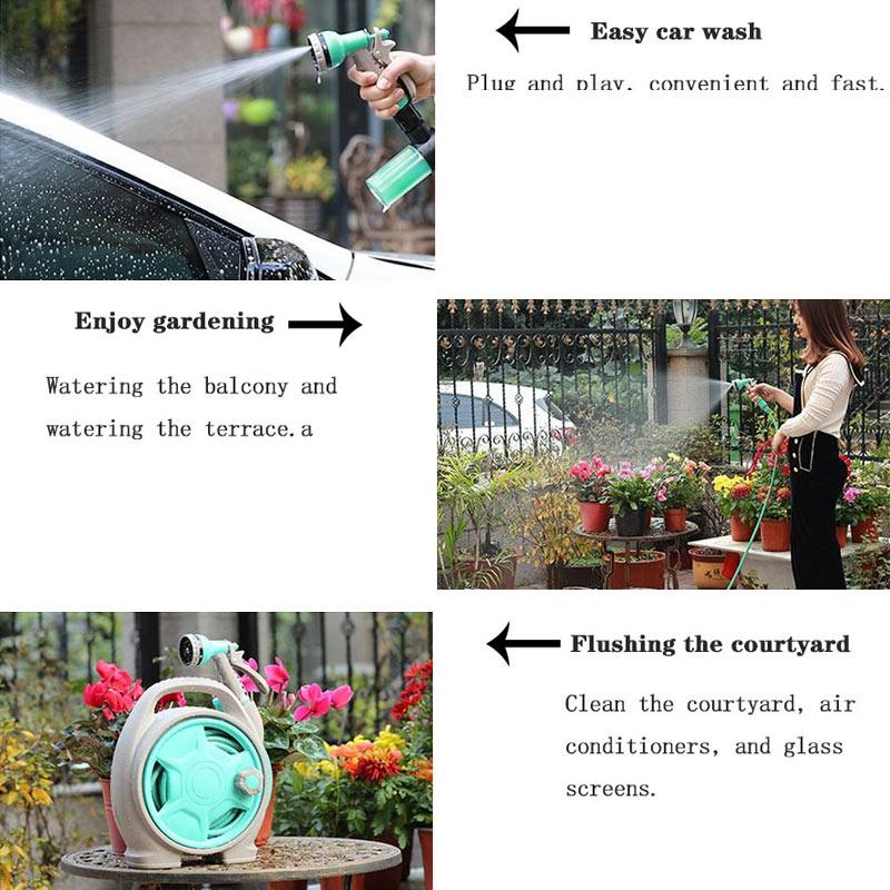 Image 5 - Garden Water Gun Shower Tool Outdoor Irrigation Does Not Hurt Plant Sprayer Car Wash Hose Multi mode Household Suit-in Garden Water Guns from Home & Garden