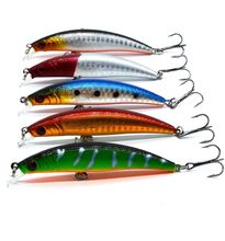 1PCS/bag 5 colors 8 cm 8.5 g Fishing Lure Minnow Hard Bait with 2 Fishing Hooks Fishing Tackle Lure 3D Eyes