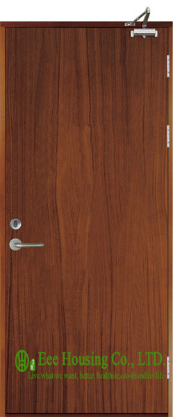 Timber Fire Rated Wooden Doors For Commercial Projects, Inward Opening Commercial Fire Rated Wooden Doors,Perlite Infilling