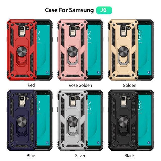 For Samsung Galaxy J6 J4 2018 J400 J600 Case Kickstand Armor Covers For Samsung J6 J4 2018 SM-J400F SM-J600F Magnet Phone case