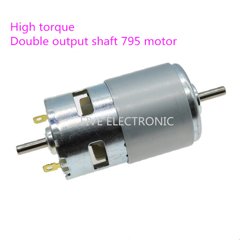 795 Double shaft High torque Motor,12V Double ball bearing High speed DC motor,Use for RC Car/ RC BOAT/DIY MODEL