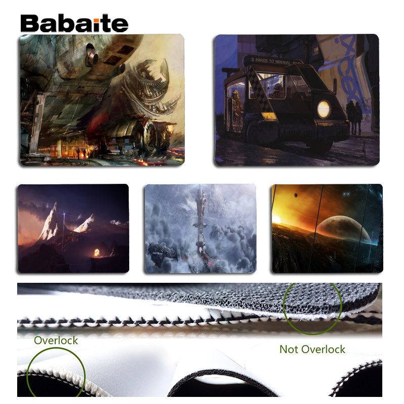 Babaite Science fiction place Laptop Computer Mousepad Size for 25x29cm Gaming Mousepads image