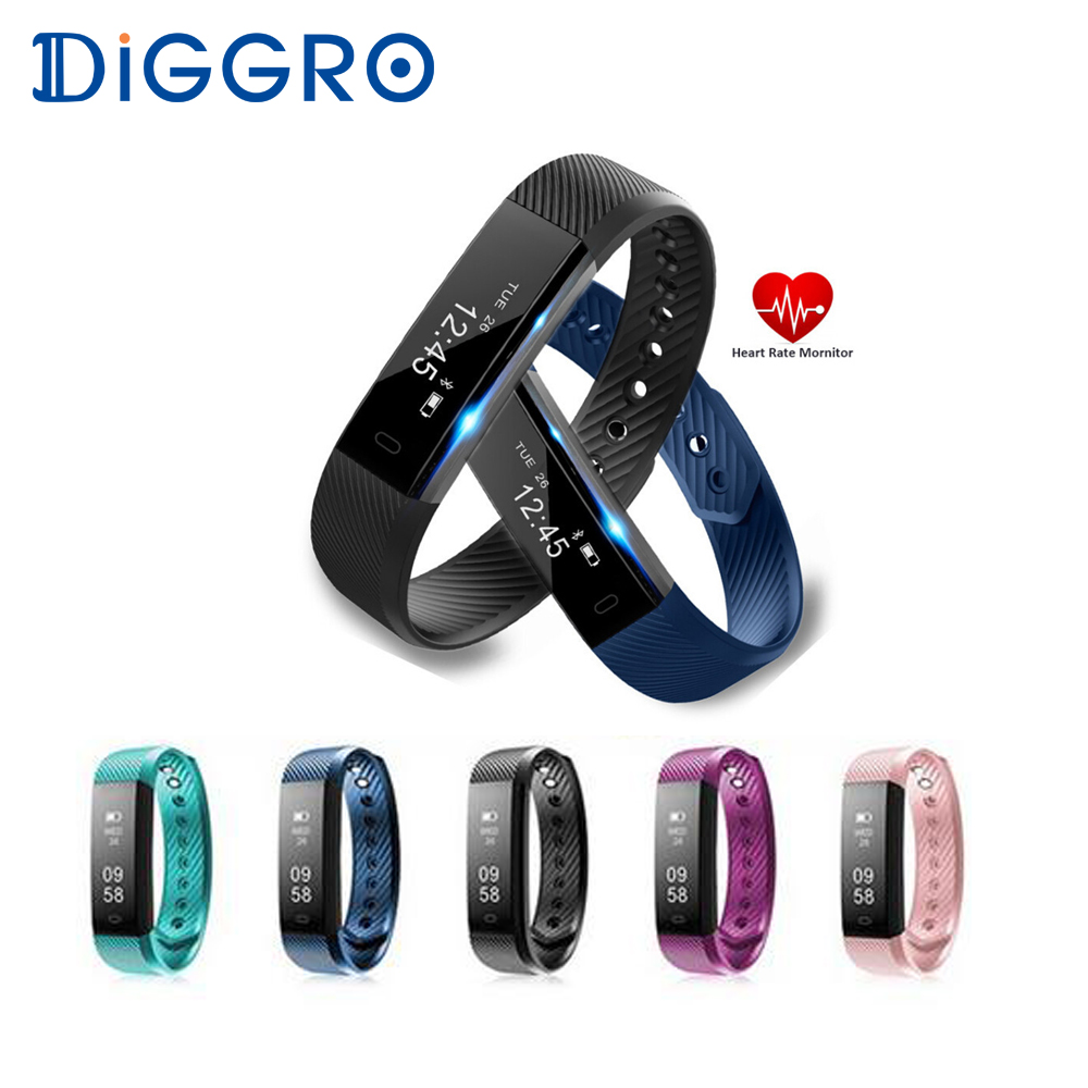 все цены на DIGGRO ID115HR Smart Wristband Bluetooth Sport Heart Rate Monitor Bracelet Fitness Tracker Step Alarm Clock Smart Band Watch онлайн