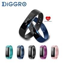 Diggro ID115HR умный Браслет Bluetooth Спорт монитор сердечного ритма Браслет фитнес-трекер шаг будильник Smart Band Watch