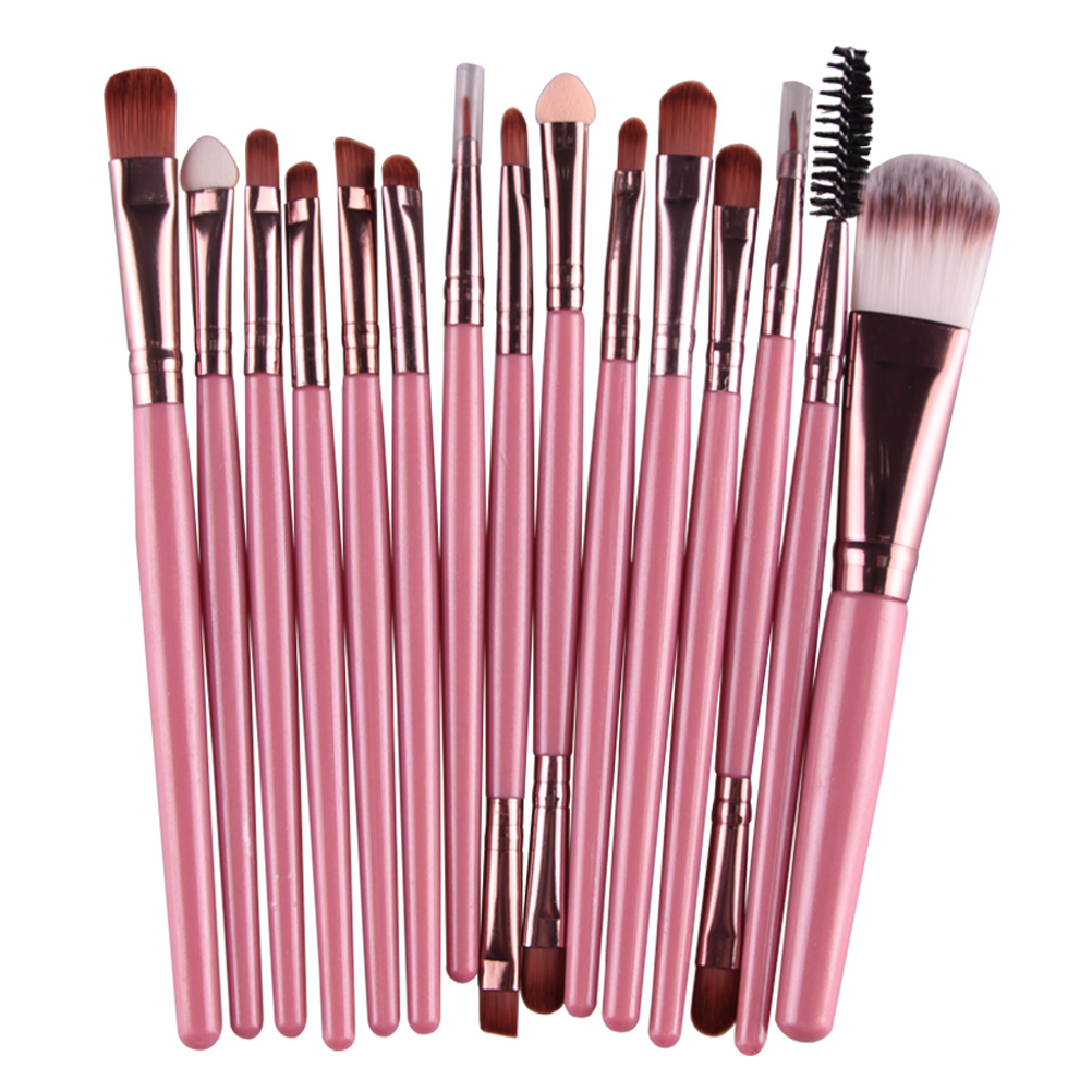 15Pcs Makeup Brushes Set Eye Shadow Foundation Powder Eyeliner