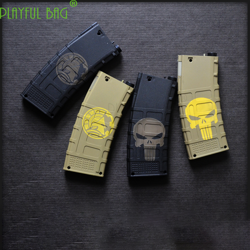 Outdoor CS Sticker Laser Engraving BD 556 Water Bullet Magazine XM316 BA 556 Core Jinming 8 Generation M4 Glockis SCAR L59