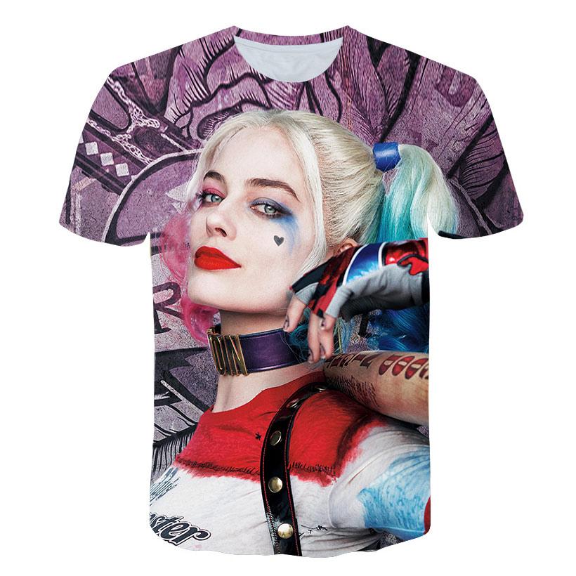 a637eb91 Men Harley Quinn Deadpool T Shirt Superman Joker Suicide Squad Men O Neck  Summer Women 3D Cool Tops Tees Harajuku Style Casual
