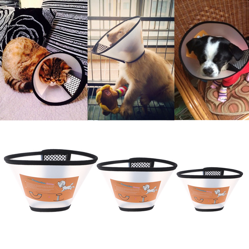 Pet Dog Cat Elizabethan Collars Wound Healing Remedy Recovery Protective Collar Collars Goods Cone E- Collar For Dogs Cats