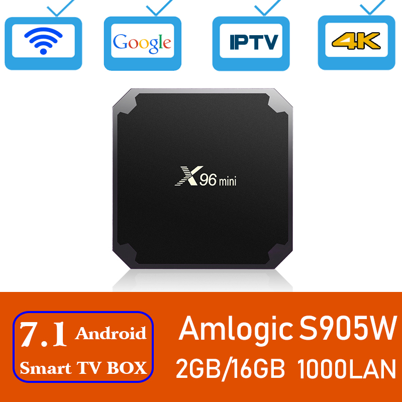 Xinways X96 mini TV BOX Android 7.1 OS Smart TV Box 2 gb 16 gb Amlogic S905W Quad Core 2.4 ghz WiFi IPTV Set top box 1 gb 8 gb
