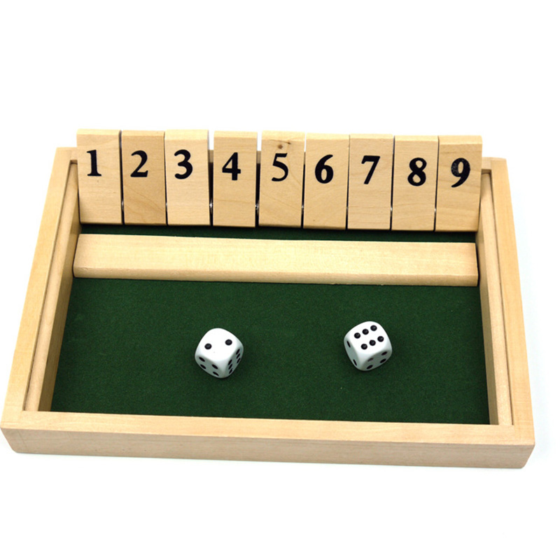 Digital 2 Players Board Games Shut The Box Club Drinking Game Entertainment