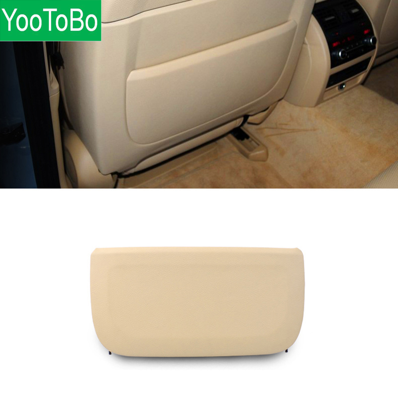YOOTOBO LHD RHD Auto Car Seat Back Cover panel Part Replacement Accessories Beige Black For BMW