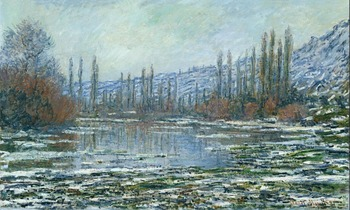 High quality Oil painting Canvas Reproductions The Thaw at Vetheuil (1881) By Claude Monet hand painted