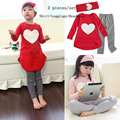 Love Heart Kids suits Girls Clothing sets Sport suits Casual clothes Baby Tracksuits Children Outfits Baby Girls costume