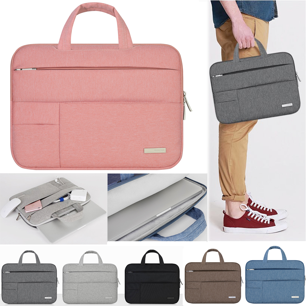 11 11.6 13 13.3 Inch Portable handbag Men Felt Laptop Case/Sleeve for Apple Mac Macbook Air Pro Notebook Bag 14 15.6 Inch-in Laptop Bags & Cases from Computer & Office