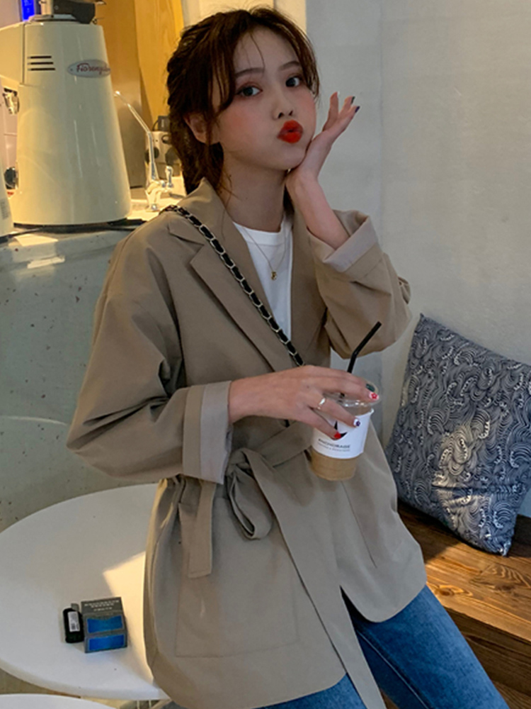 Cheap Wholesale 2019 New Autumn Winter Hot Selling Women's Fashion Netred Casual  Ladies Work Wear Nice Jacket MW243