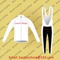 Custom Design Winter Long Sleeve Jersey and Bib-Pants Bike Racing Team Biker Cycling  Thermal Fleece Outdoor Padded Suit W001