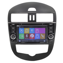 new arrival automotive equipment digital contact display screen can bus GPS navigation for brand spanking new tiida automotive dvd participant steering wheel management RDS
