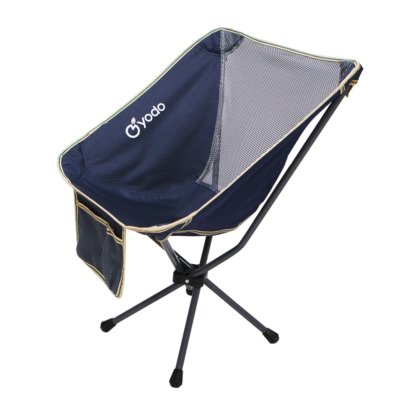 Outdoor Furniture Alert 7 Optional Colors Fishing Moon Chair Purple Stable Camping Folding Outdoor Furniture Portable Ultra Light Chairs 0.9 Kg Beach Chairs