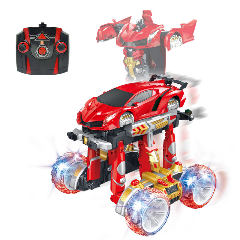 Hot sell electric kids deformation RC car human toy 2.4G racing car hunman deform simulation stunt rotate vehicle model RC kids