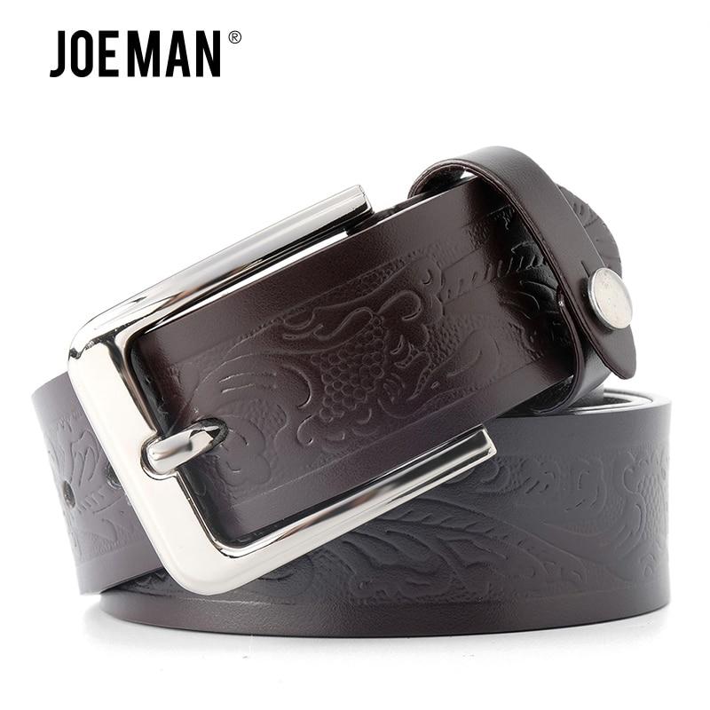 Casual Leather Men Belts Floral Print Belt For Men Genuine Leather Belts 4.0 cm Strap Width Black Color Dark Brown Dark Blue