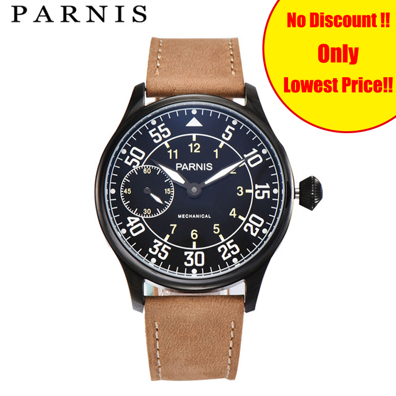 Mechanical Hand Wind Watches Men 44mm Parnis Hand Winding Watches Black Genuine Leather Strap Luminous Hot Sale Watch MenMechanical Hand Wind Watches Men 44mm Parnis Hand Winding Watches Black Genuine Leather Strap Luminous Hot Sale Watch Men