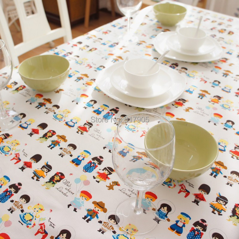 Free Shipping Cute Cartoon Kids Room Table Cover Modern Lace Tablecloth  Overlays Elegant Dining Table Cloth Designer Table Linen In Tablecloths  From Home ...