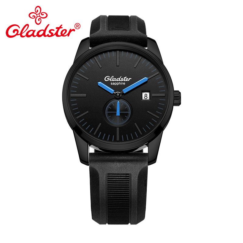 Gladster Sports Silicone Fashion Japan MIYOTA GP11 Quartz Wristwatch Luminous Analog Man Clocks Display Date Hour Male's Watch