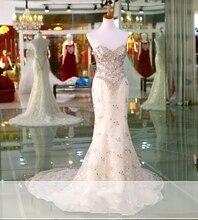 Vestido de novia 2017 Vintage Luxury Lace Mermaid Wedding Dress Beading Bridal Gown
