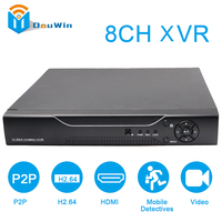 8 CH XVR Video Recorder All HD 1080P DVR Recording Support AHD Analog Onvif IP TVI