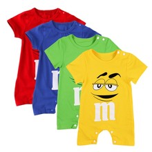 Baby Rompers Jumpsuit For Boy Girls Clothes Summer Newborn baby Clothing Short Sleeve Jumpsuits Cotton