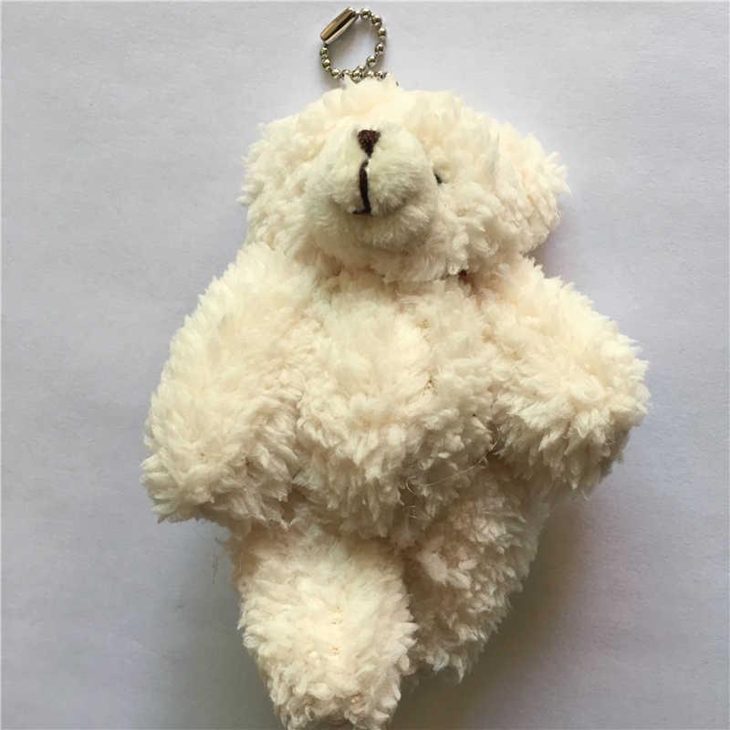 10 шт/лот Kawaii небольшое соединение плюшевых мишек плюшевая игрушка с цепочкой 12 см, плюшевый мишка маленький медведь Тэд медведи плюшевые игрушки подарки