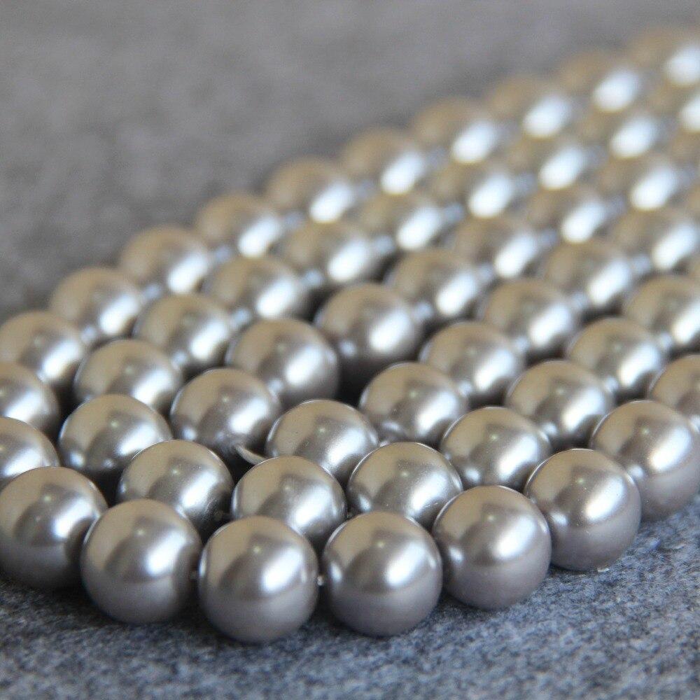 523782895449 Nouveau pour collier et Bracelet 12 mm argent blanc Shell perles perles  bricolage cadeaux pour femmes fille de perles fabrication de bijoux  conception 15 ...