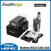 100% Original Wismec Reuleaux RX2/3 TC 150 W/200 W Caja Mod Firmware Actualizable En Forma de Cilindro tanque y el teorema de Tanque