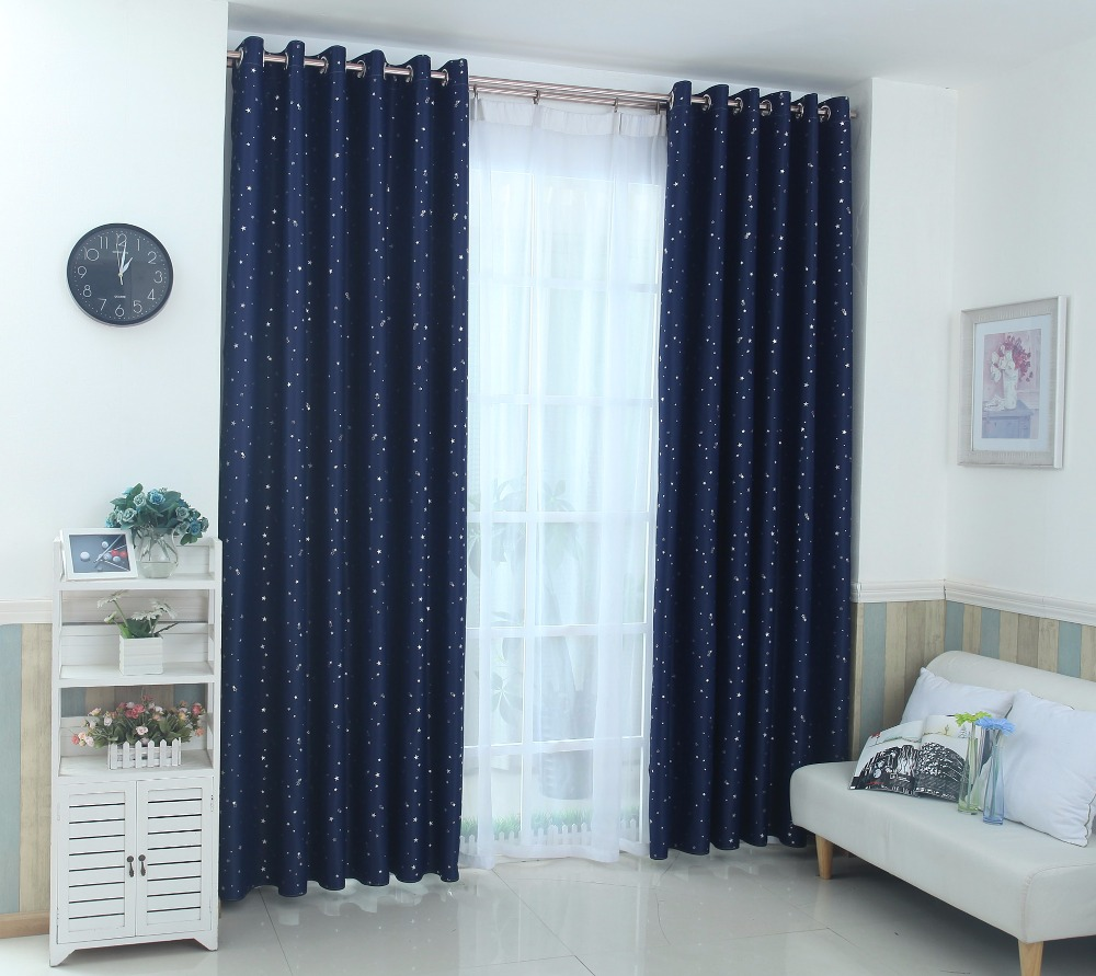 Kitchen Curtains Littlewoods Us 5 2 Navy Blue Star Curtains For Kids Room Lovely Printed Boys Bedroom Baby Window Drapes 123 30 In Curtains From Home Garden On Aliexpress