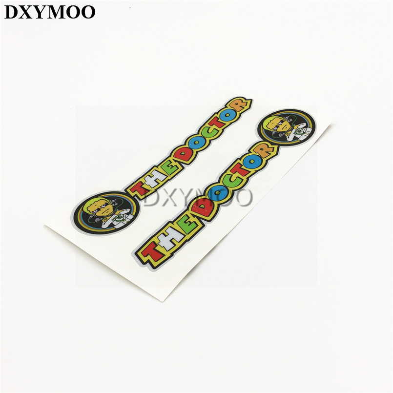 1 Pair Moto GO Racer Rossi 46 THE DOCTOR Motorcycle Sticker Auto Whole Body Door Window  ...